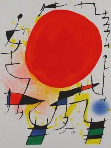 Joan Mirò - Sole rosso 1972