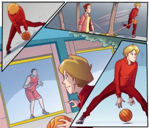 Fumetto-basket casa libri