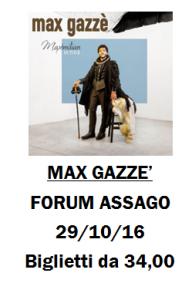 Concerto Max Gazzè a Milano