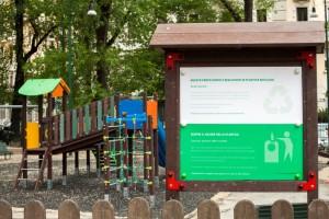 Parco delle Basiliche_nuova area giochi in plastica ricilata