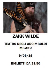 Concerto Zakk Wilde Milano