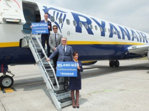New routes Ryanair from BGY to Nis and Ostrava