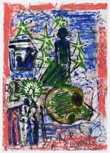Notte stellata 2015 olio 42x29 5 cm collezione privata