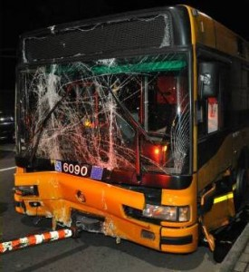 incidente autobus via Romanello