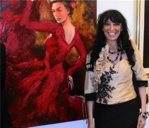 Ester Campese con Mujer Española