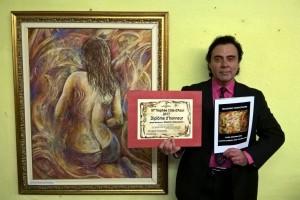 MASSIMO PARACCHINI CON L'OPERA