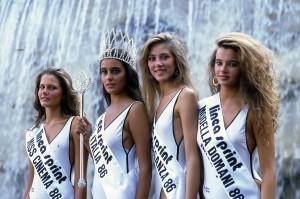 Salsomaggiore Terme - Finalia Miss Italia - (da sinistra) Barbara Borghesi, Roberta Capua, Helena Sanson e ...