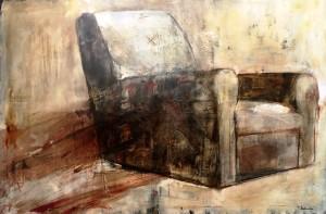 Teresa Santinelli Pausa olio su tela cm 100x150