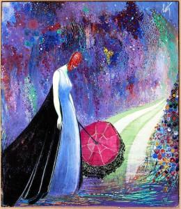 Betto Lotti_Dame au parapluie_1925