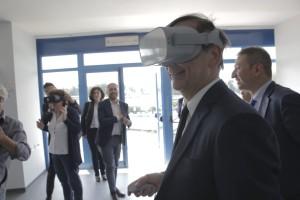 Beppe Sala In Sala Azzurra con Oculus go