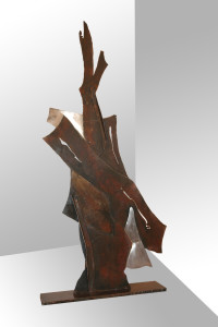 S.T. anno 2009 materiale ferro altezza cm.122 larghezza cm.50
