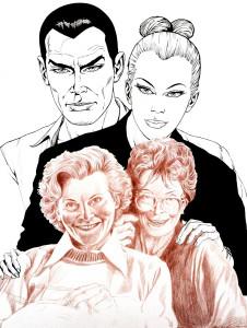 Diabolik Eva con le sorelle GiussaniDiabolik Eva con le sorelle Giussani