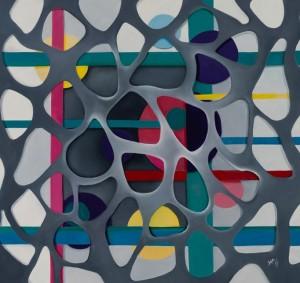 Tesoro nascosto, 2015, olio su tela, cm 100x100