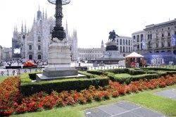 Area verde in piazza Duomo