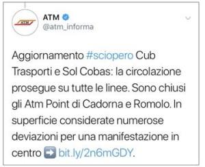 Sciopero ATM