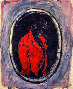 Carlo Mattioli - La giacca rossa - tempera su carta intelata - Collezione privata___Parma2020 (1)
