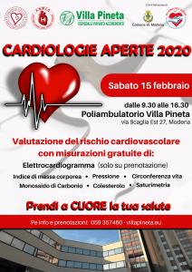 VILLA PINETA locandina cardiologie aperte 2020