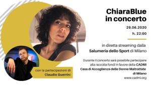 Locandina Concerto ChiaraBlue a favore di CADMI