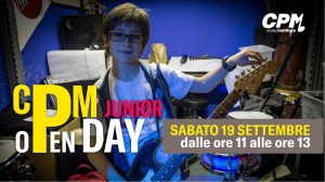 CPM_Open Day Junior sabato 19 settembre