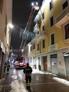 Vigili del Fuoco in via Repubblica