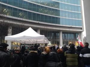 Manifestazione Palazzo Regione