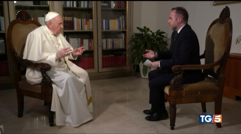 Papa Francesco e Fabio Marchese Ragona