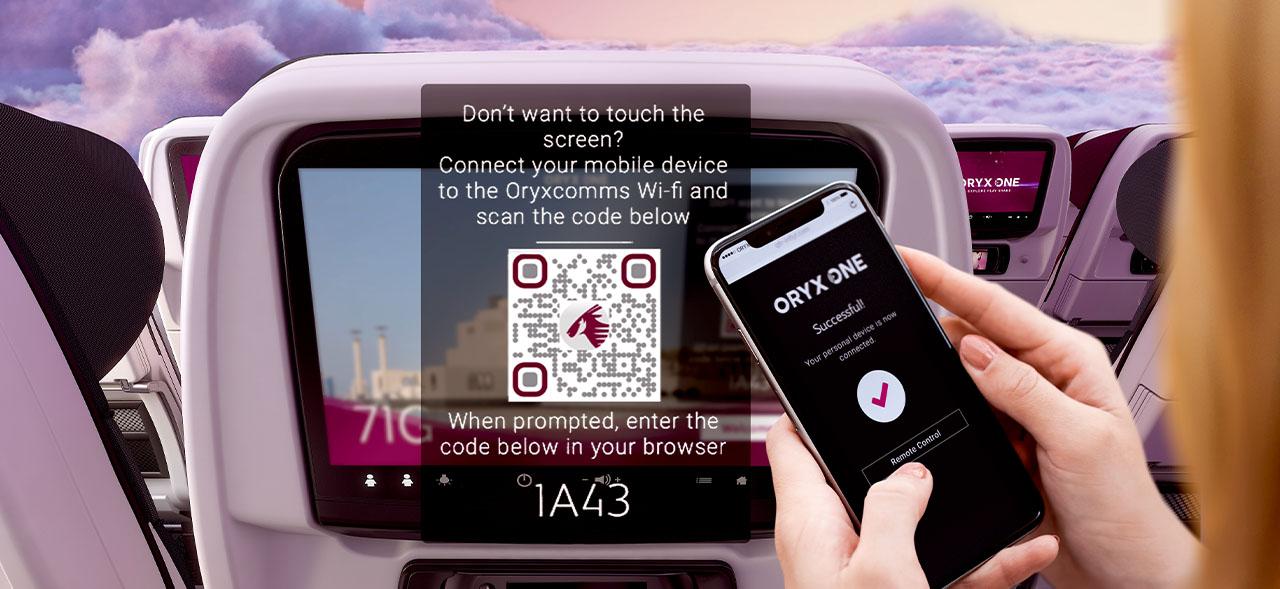 Qatar Airways - 'Zero-Touch' In-flight Entertainment Technology - 1