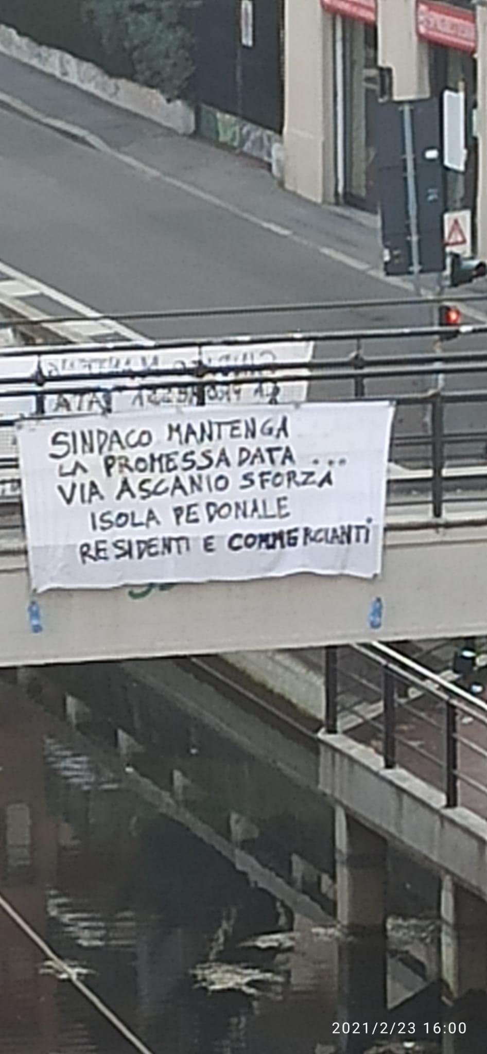 Striscione Ponte Ascanio Sforza -20210223-
